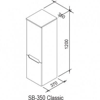 Aukšta ūkinė spintelė Ravak SB Classic 35x120 cm 7
