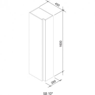 Aukšta ūkinė spintelė SB 10° Ravak 45 cm 6