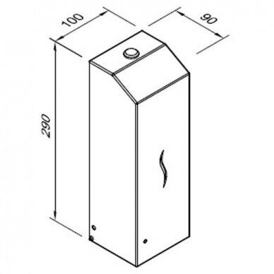 Automatinis skysto muilo ir dezinfekcinių skysčių dozatorius Faneco Hit, 1 l 6