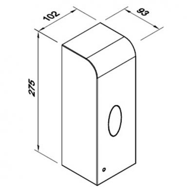 Automatinis skysto muilo ir dezinfekcinių skysčių dozatorius Faneco Lab, 1 l 3