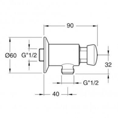 Automatinis ventilis pisuarui Siko Silfra 2