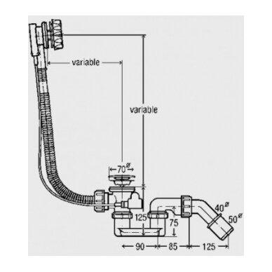 Automatinis vonios sifonas McAlpine 2