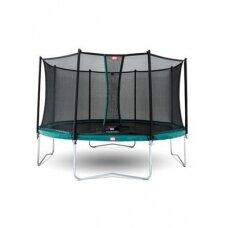 Batutas BERG Favorit – 380 cm, žalias, su apsauginiu tinklu Comfort