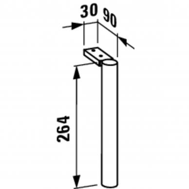 Baldų kojelės Laufen Base 26,4 cm 3