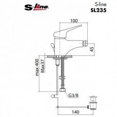 Bidė maišytuvas S-line SL235