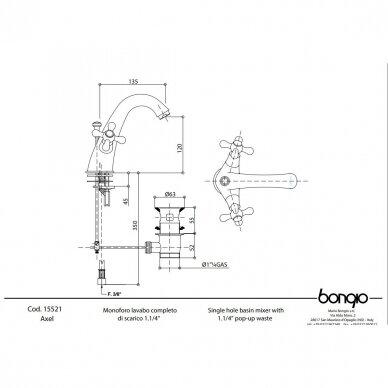 Bidė maišytuvas Bongio Axel 3