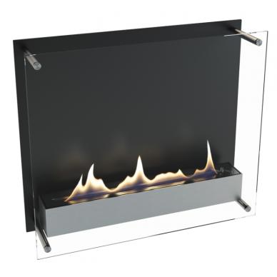 Bio židinys Ebios-fire Cambridge 600, juodas, 38 m2, 3,8 kW