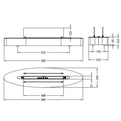 Bio židinys Ebios-fire Elipse Base Mini, chromas, 16 m2, 1,6 kW 2
