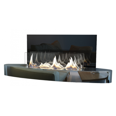 Bio židinys Ebios-fire Elipse Wall Mini, chromas, 16 m2, 1,6 kW