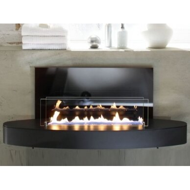 Bio židinys Ebios-fire Elipse Wall Mini, juodas, 16 m2, 1,6 kW