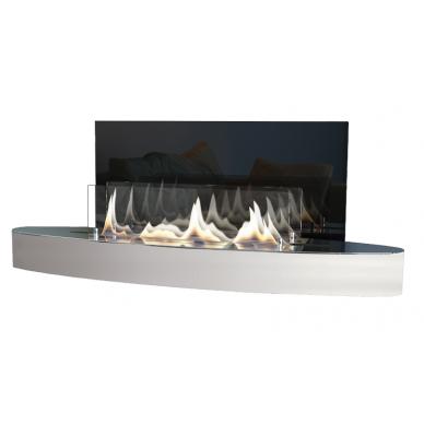 Bio židinys Ebios-fire Elipse Wall Mini, nerūdijančio plieno, 16 m2, 1,6 kW