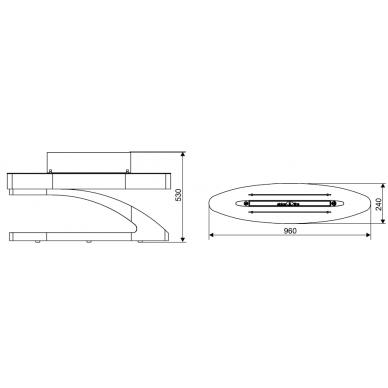 Bio židinys Spartherm Elipse Z, balta spalva, 3,4 kW, 34 m2 2
