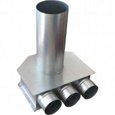 Cinkuoto plieno difuzoriaus dėžutė DN125-3x75 L-225
