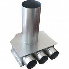 Cinkuoto plieno difuzoriaus dėžutė DN125-3x75 L-70