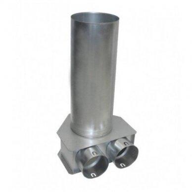 Cinkuoto plieno difuzoriaus dėžutė DN125-2x75 L-225