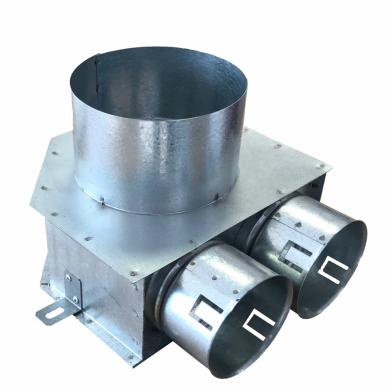 Cinkuoto plieno difuzoriaus dėžutė DN125-2x75 L-70