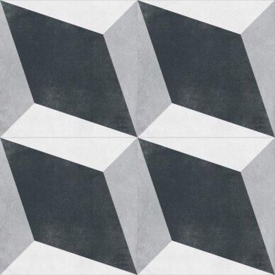 Akmens masės plytelės CUBAN BLOCK 22,3x22,3 cm 2
