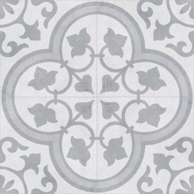 Akmens masės plytelės CUBAN WHITE ORNATE 22,3x22,3 cm 2