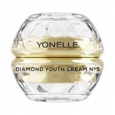 Jauninamasis veido kremas su deimantų dulkėmis Yonelle Diamond No5 50ml