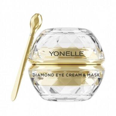 Paakių kremas-kaukė su deimantų dulkėmis Yonelle Diamond Eye Cream & Mask 30ml