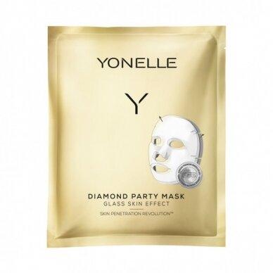 Intensyvaus poveikio gavinamoji veido kaukė Yonelle Diamond Party Mask 1vnt