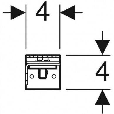 Distanciniai laikikliai Geberit DuofixBasic 4