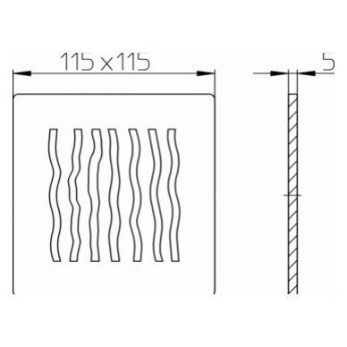 Dizaininės grotelės HL3123 2
