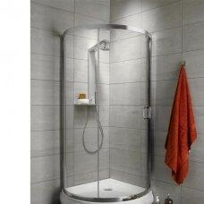 Dušo kabina Radaway Premium Plus 90 cm su padėklu ir sifonu