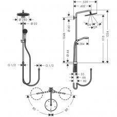 Dušo sistema Hansgrohe Croma Select S 280