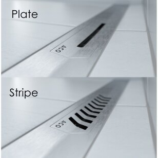 Dušo latakas ACO ShowerDrain S+ ir grotelės 80, 90, 100, 120 cm