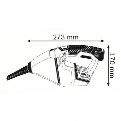 Dulkių siurblys Bosch GAS 12 V  Professional, 2x2,5Ah 6