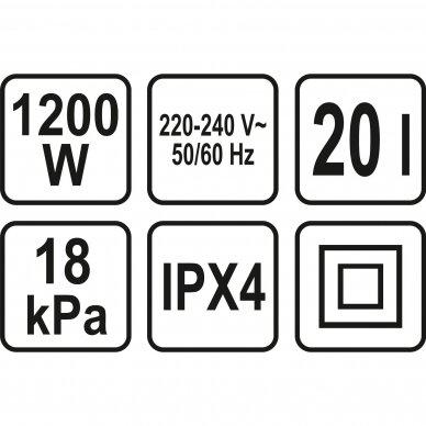 Dulkių siurblys pramoninis Sthor, drėgna ir sausa funkcija, 1200W, 20 l 3