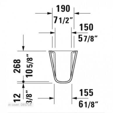Sifono gaubtas Duravit D-Code 4
