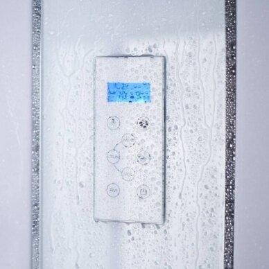Duschy dušo kabina ketursienė su masažu 92x92x217cm LED 4