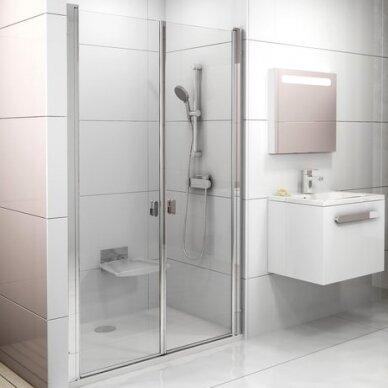 Dušo durys Chrome CSDL2 90, 100, 110, 120 cm