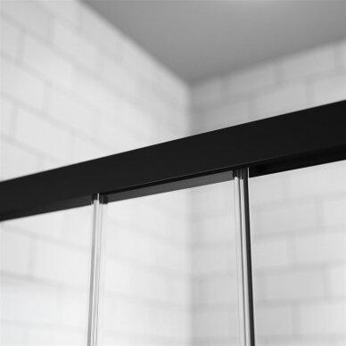 Dušo durys į nišą Radaway Idea Black DWJ 100, 110, 120, 130, 140, 150, 160 cm 2