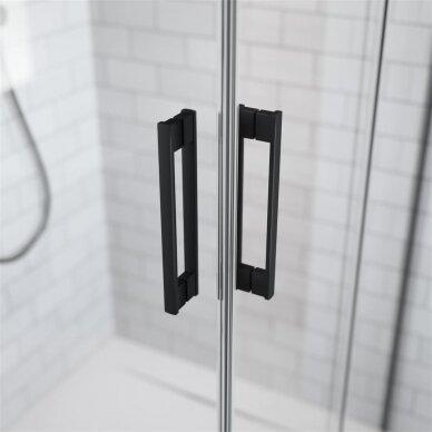 Dušo durys į nišą Radaway Idea Black DWJ 100, 110, 120, 130, 140, 150, 160 cm 3