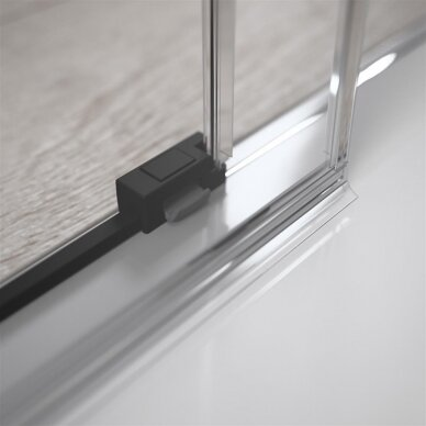 Dušo durys į nišą Radaway Idea Black DWJ 4