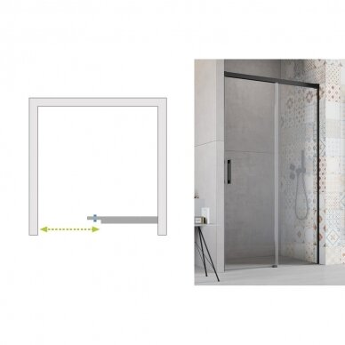 Dušo durys į nišą Radaway Idea Black DWJ 6