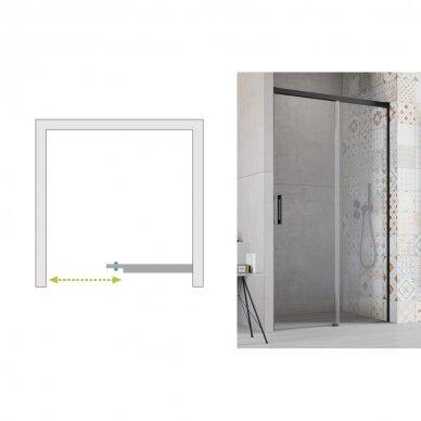 Dušo durys į nišą Radaway Idea Black DWJ 100, 110, 120, 130, 140, 150, 160 cm 6