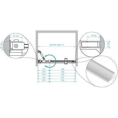 Dušo durys nišoms Brasta Glass Greta Plius 80, 90, 100, 110, 120 cm 4