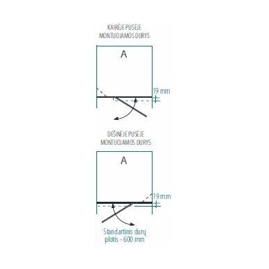 Dušo durys nišoms Brasta Glass Ieva plius 80, 90, 100, 110, 120 cm 3