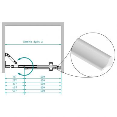 Dušo durys nišoms Brasta Glass Ieva plius 80, 90, 100, 110, 120 cm 2