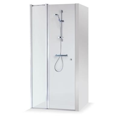 Dušo durys nišoms Brasta Glass Greta Plius 80, 90, 100, 110, 120 cm
