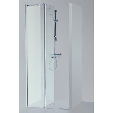Dušo durys nišoms Baltijos Brasta Greta Plius 80, 90, 100, 110, 120 cm 2