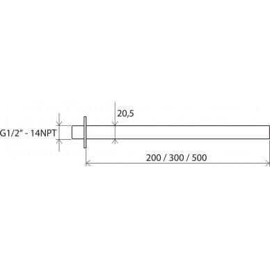 Dušo galvutės išvadas Ravak 20, 30, 50 cm 3