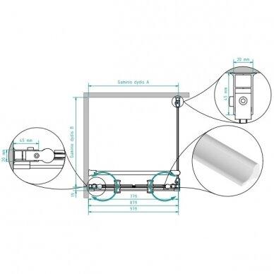 Dušo kabina Brasta Glass Erika 80, 90, 100 cm 7