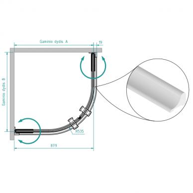 Dušo kabina Brasta Glass Julija 90 cm 2