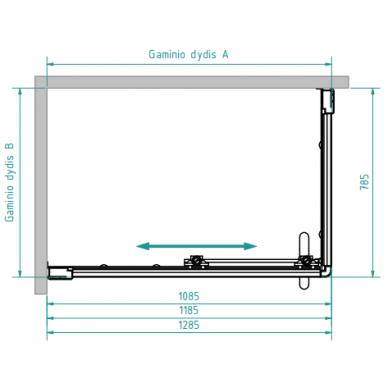 Dušo kabina Brasta Glass Laima 110, 120, 130 cm 8
