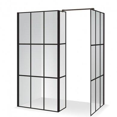 Dušo kabina Baltijos Brasta Nero Cube Bona 140 cm